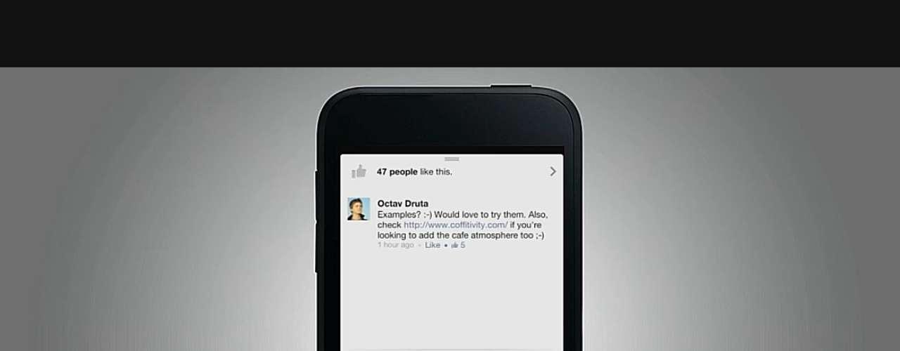O Facebook Home apresenta inovações: tocar na tela duas vezes funciona como clicar em \