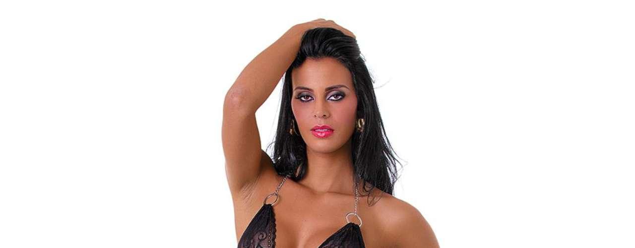 Lorena Bueri, a Gata do Paulistão 2012, posou para a coleção de lingerie da Loja do Prazer
