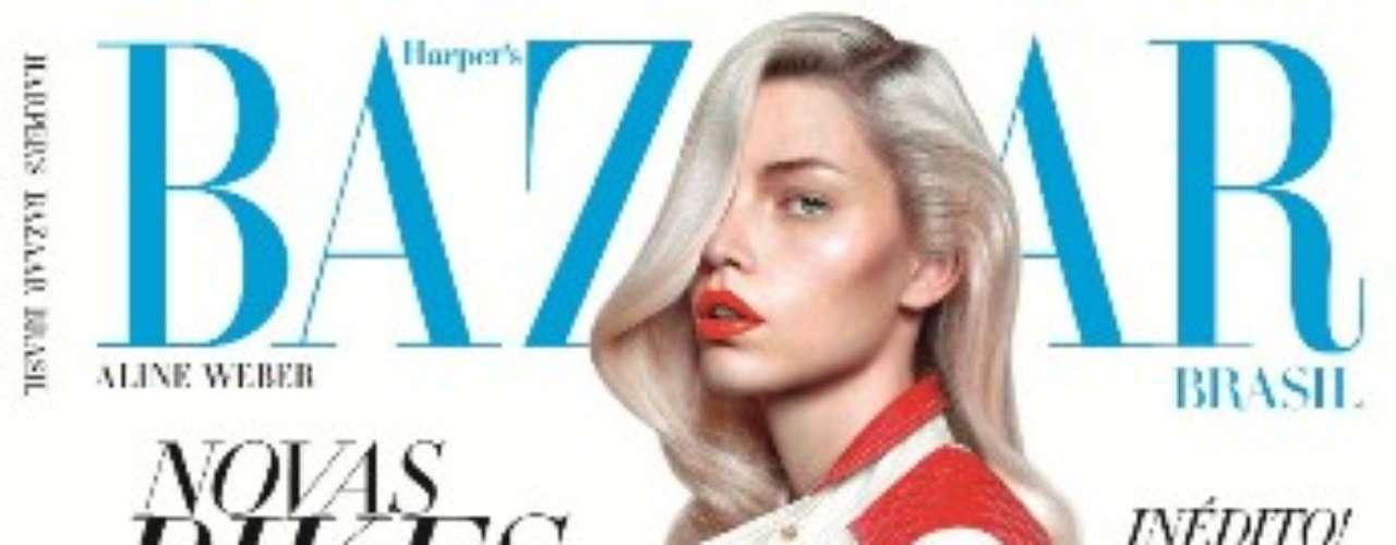 Aline posou para a 9ª edição da revista Harper's Bazaar