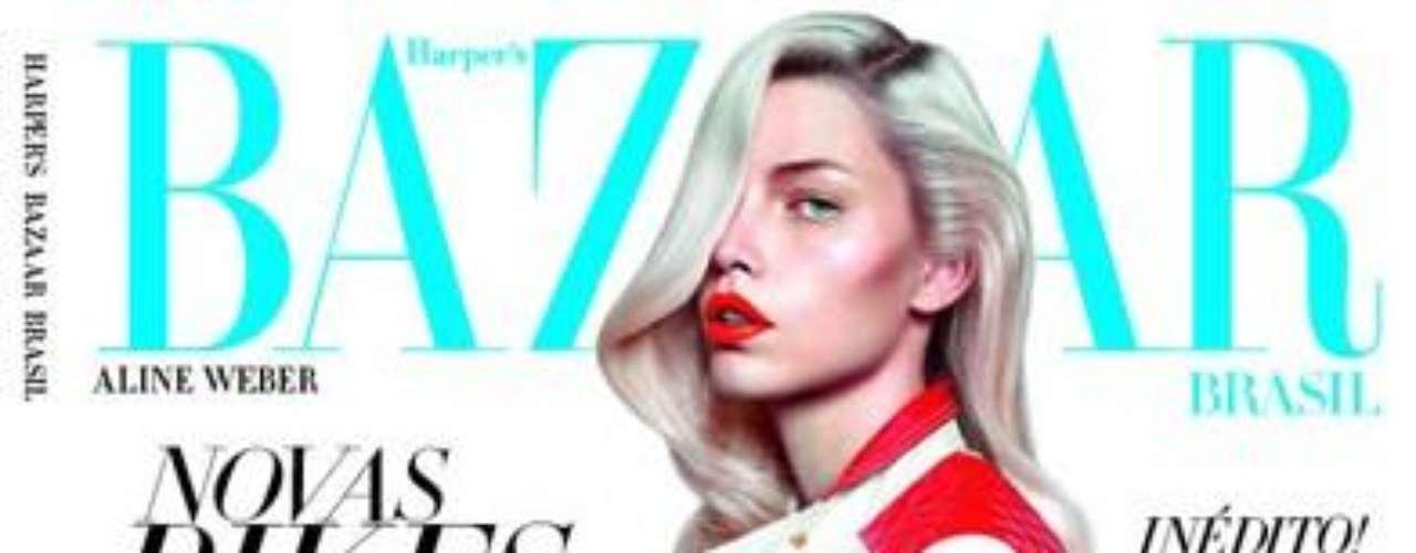 Aline Weber posa para capa da revista Harper's Bazaar  brasileira, em julho de 2012