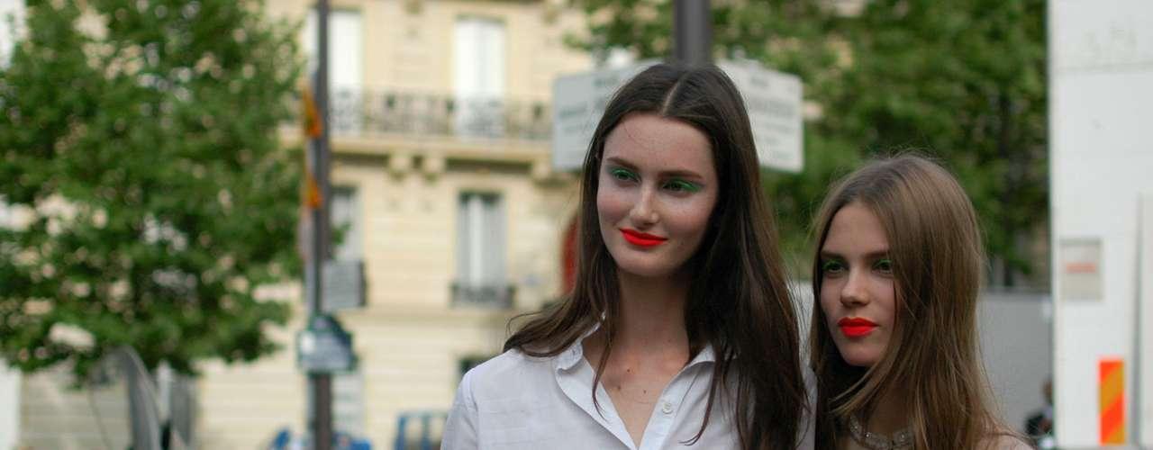 Pose para foto, após o desfile Christian Dior