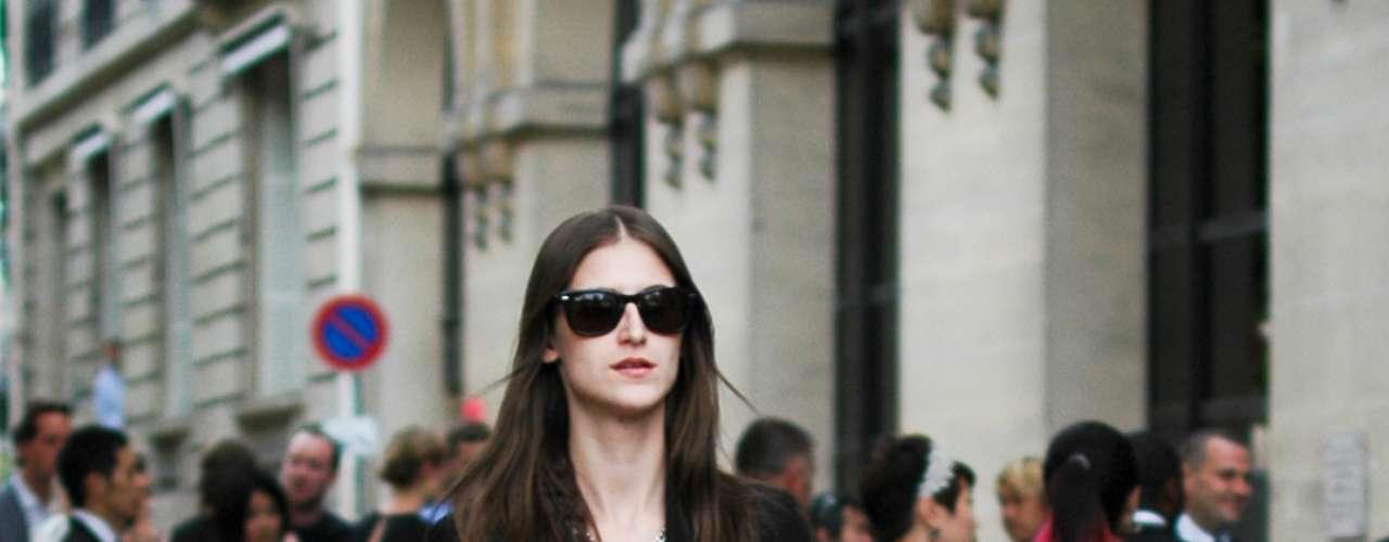 A brasileira Daiane Conterato depois de desfilar para Christian Dior