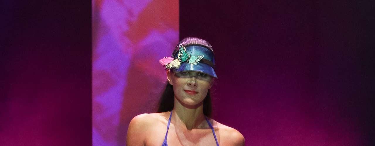 Elas apresentaram a nova coleção de verão da Seafolly Australia, marca australiana de moda praia
