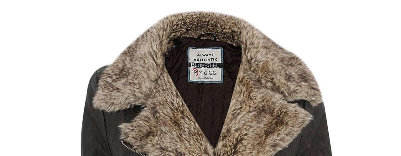 Jaqueta de couro preta com detalhes em pele fake Renner, R$199,00. Serviço: 11 21652800. www.lojasrenner.com.br