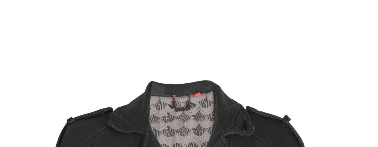 Jaqueta de couro preta Doma para Shoulder, R$1890,00. Serviço: www.shoulder.com.br. 11 33660010