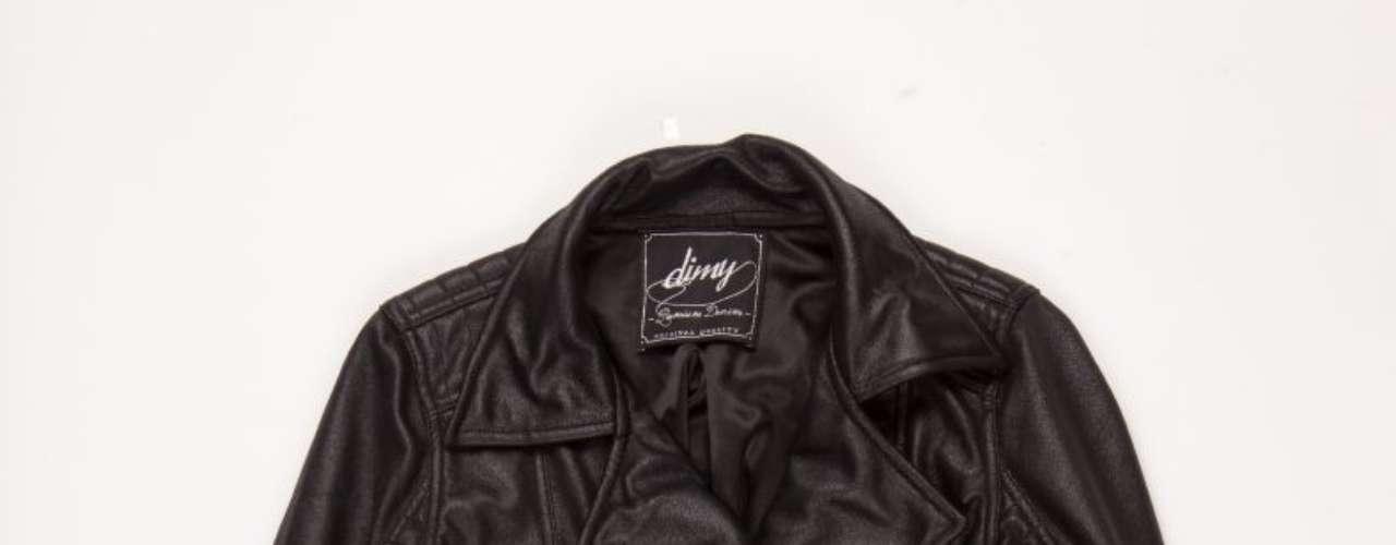 Jaqueta de couro preta Dimy, R$415,00. Serviço: 48 32670389. www.dimirmay.com.br