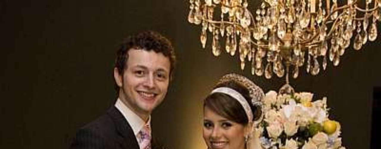 Em seu casamento, em 2008, a veia romântica falou mais alto. \