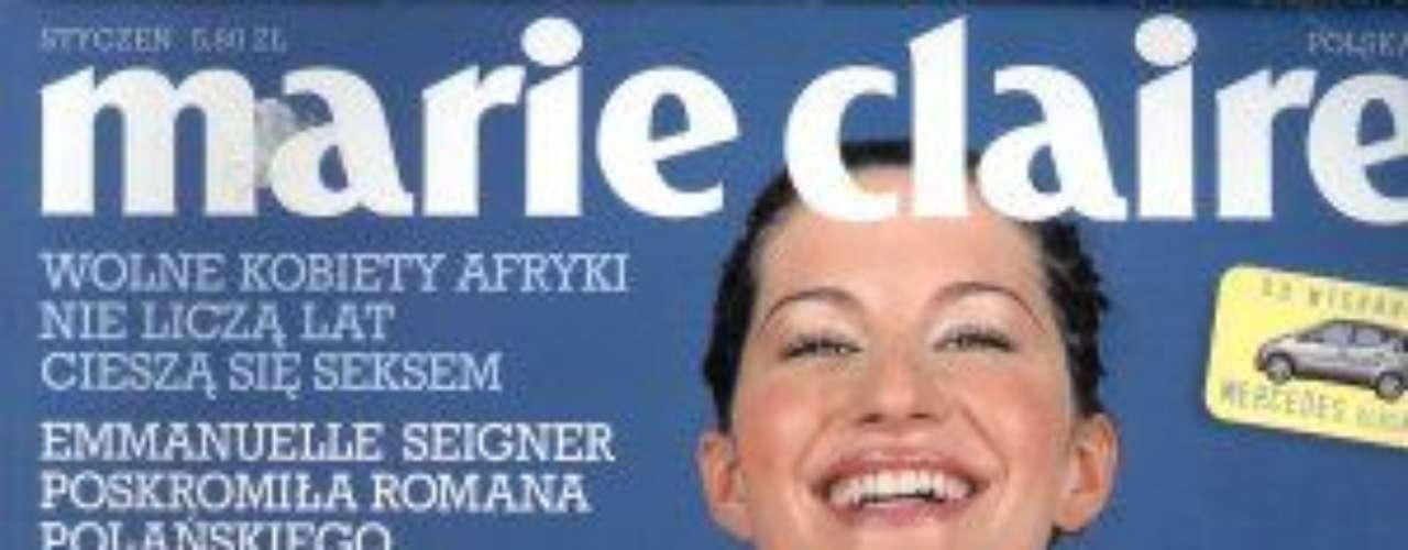 Em 1998 ela posou para sua primeira revista internacional, a Marie Claire britânica