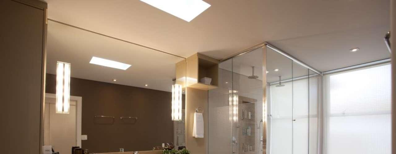 Quando usadas em conjunto ao restante da decoração, as pias ajudam a deixar o banheiro mais elegante