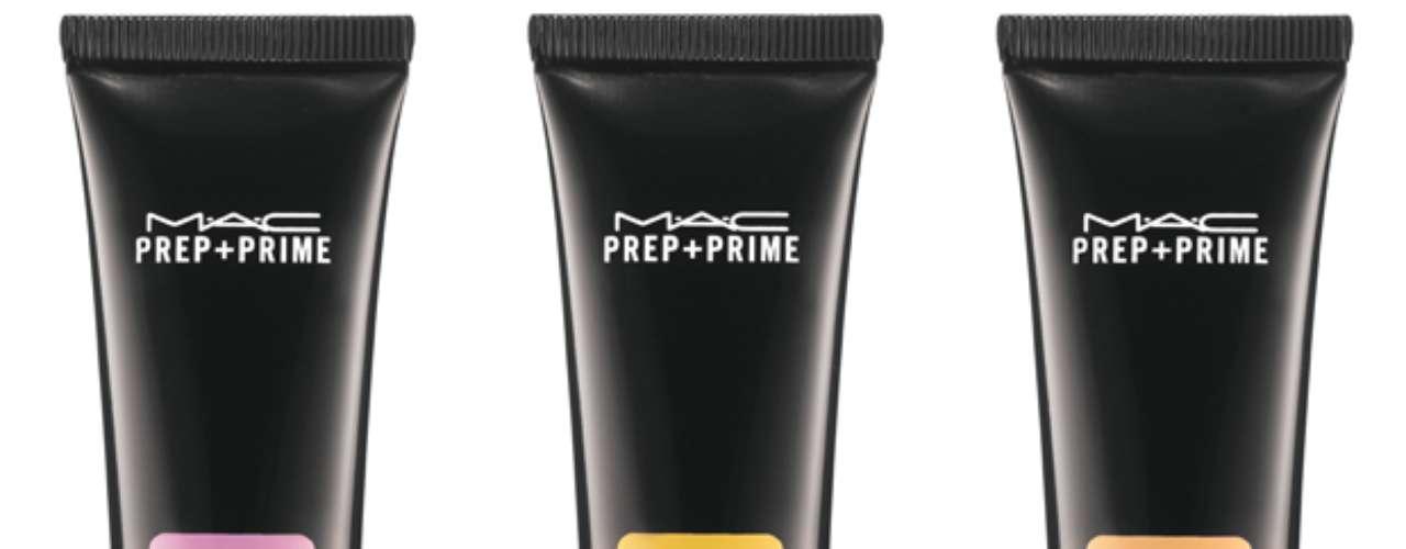 Prep+Prime Fortified Skin Enhancer SPF 35, da M.A.C. Existe nas versões pêssego, lavanda, amarelo e laranja. R$ 147 cada