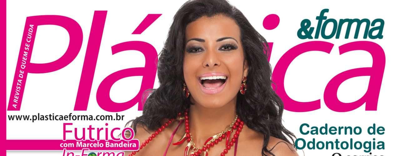 Cinthia Santos, a Índia Potira da Escolinha do Gugu, é a estrela da revista Plástica & Forma