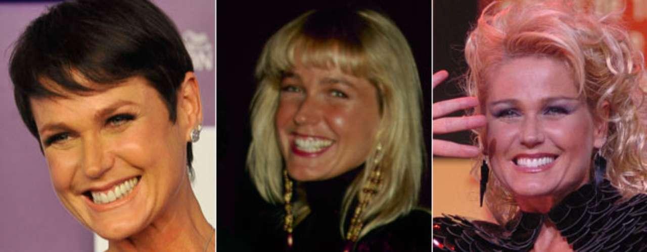 Os fios loiros sempre foram marca registrada de Xuxa, mas nesta quarta-feira ela radicalizou e tingiu os fios pela primeira vez e agora está morena