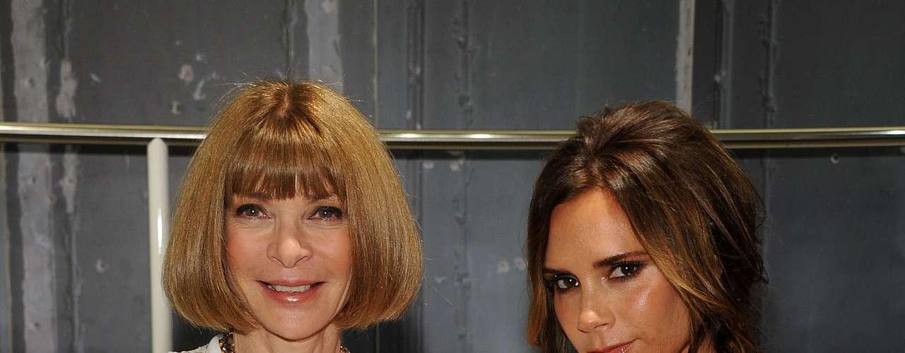 Victoria Beckham celebra evento de moda em NY ao lado da editora da Vogue, Anna Wintour