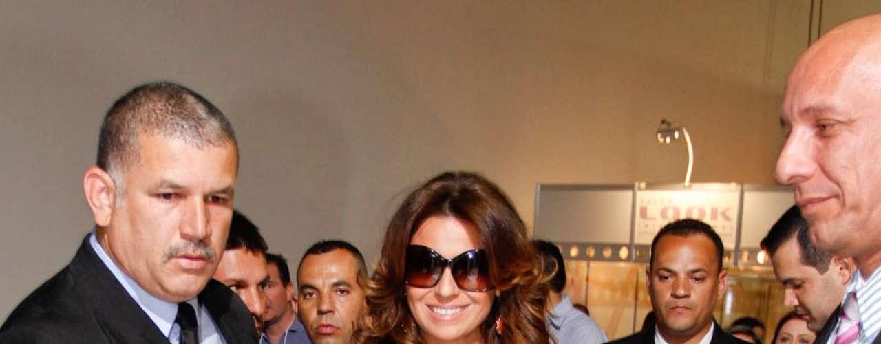 A atriz causou alvoroço durante sua chegada no evento