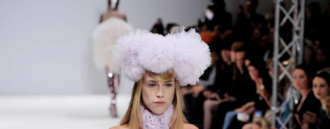 O desfile da Pam Hogg chamou a atenção durante o penúltimo dia da semana de moda de Londres