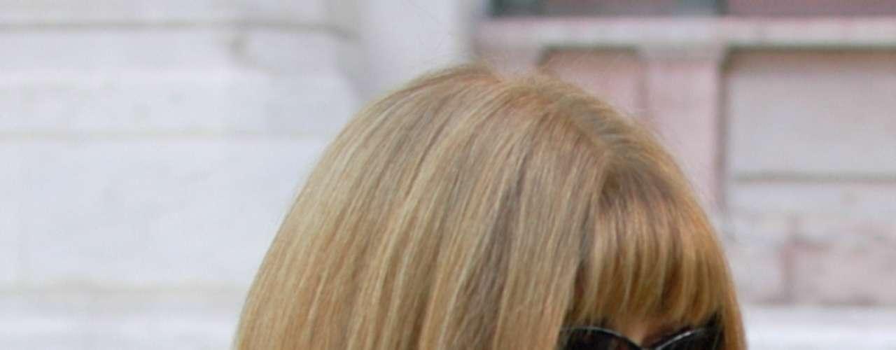 A editora-chefe da 'Vogue' americana também não perdeu o desfile de Stella McCartney na semana de moda de Paris