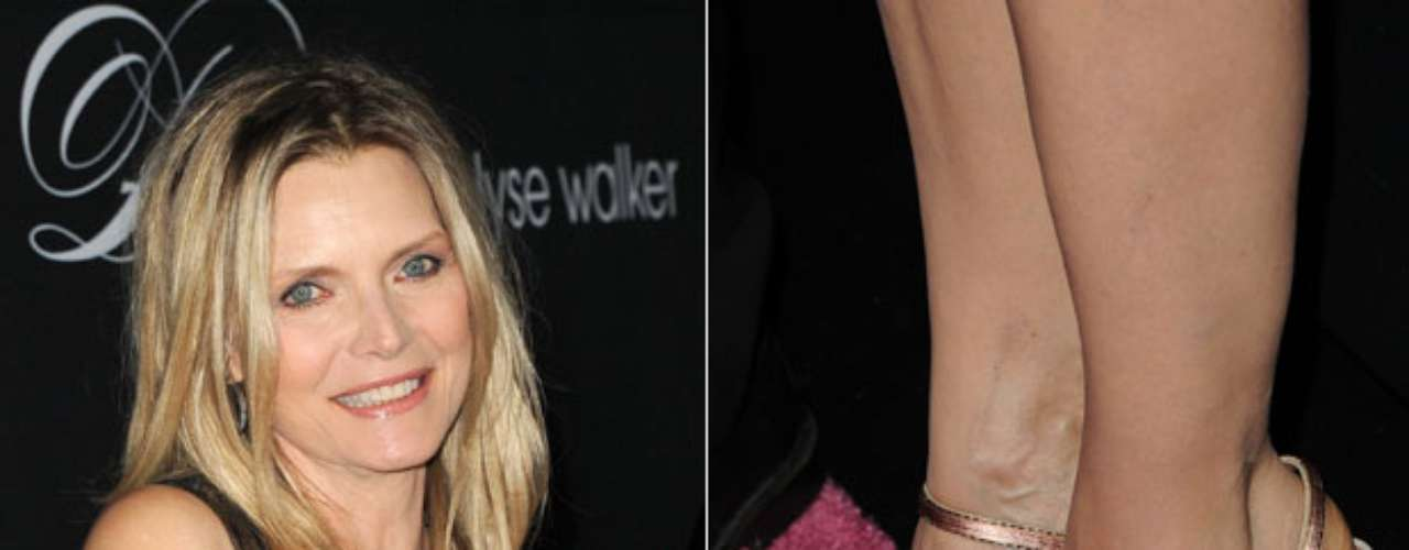 A atriz americana Michelle Pfeiffer investiu em esmalte preto nos pés