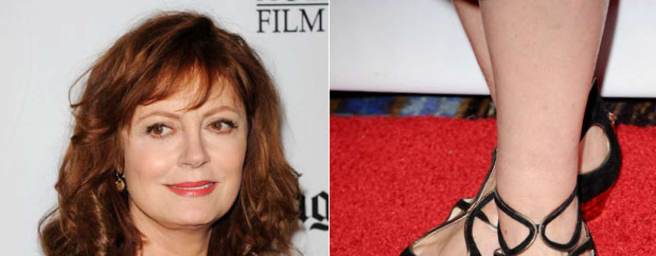 Esmalte dourado nos pés foi a escolha da atriz Susan Sarandon