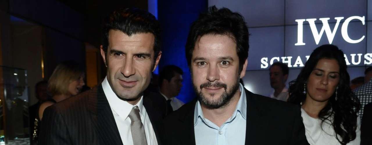Na noite desta terça-feira (13) Luís Figo e Murilo Benício marcaram presença na inauguração da relojoaria IWC