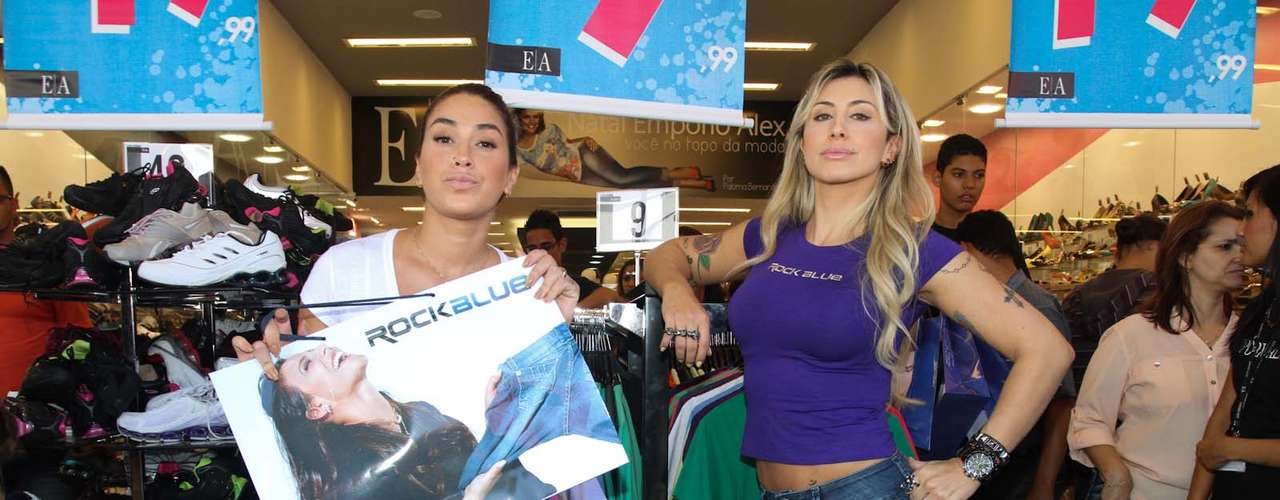A dupla causou tumulto ao chegar em uma loja, onde, juntas, fizeram compras