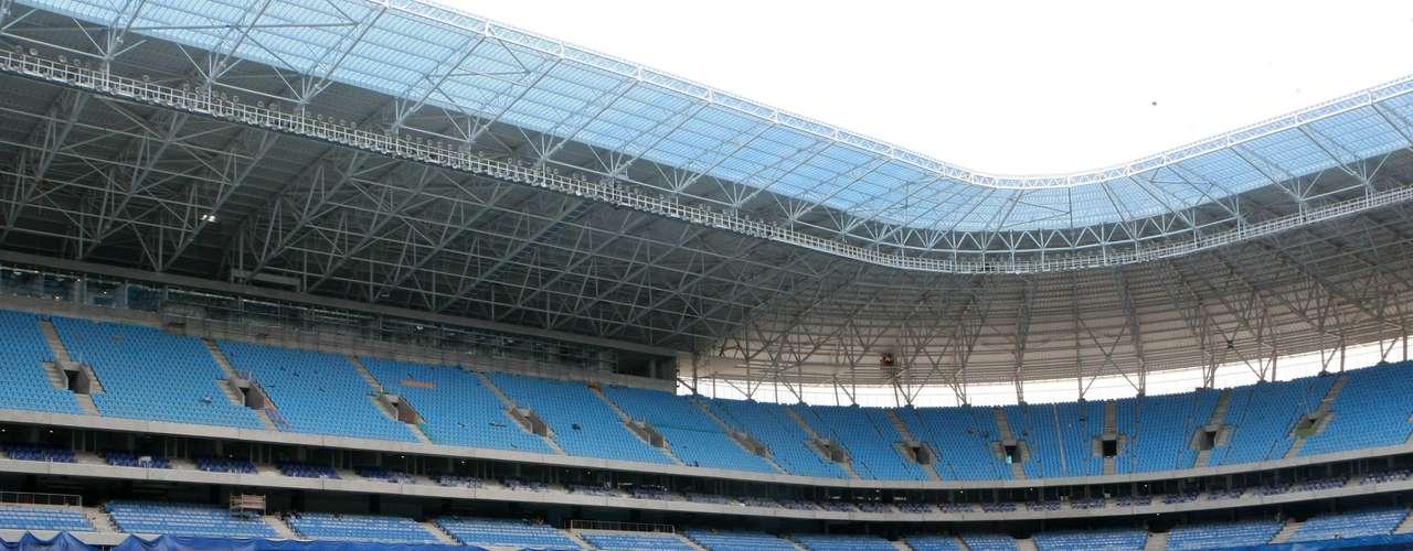 Detalhe da construção grandiosa em Porto Alegre