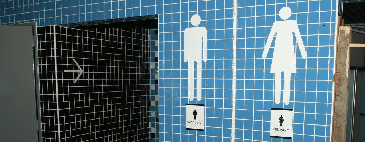 Detalhe dos banheiros da Arena do Grêmio