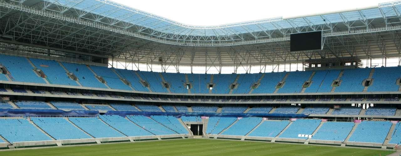 No detalhe, visão de um dos locais da arena