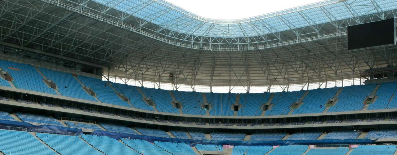 Gramado da Arena do Grêmio foi plantado recentemente