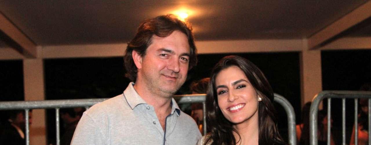 Ticiana Villas Boas chegou acompanhada pelo marido, o empresário Joesley Batista