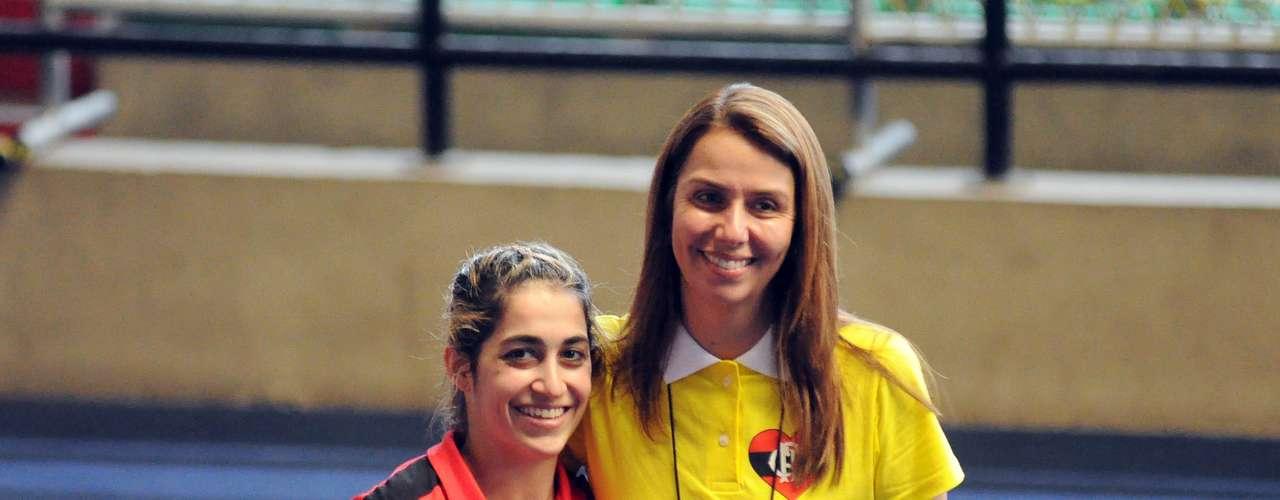 Patrícia Amorim recebeu também o apoio da ginasta Daniele Hypolito