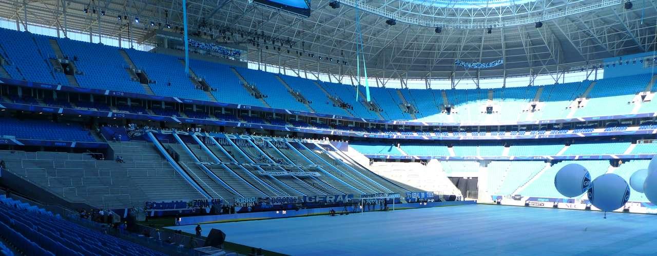 Cerimônia de abertura da Arena do Grêmio começa às 20h30 e terá shows com dança e apresentação do Blue Men Group