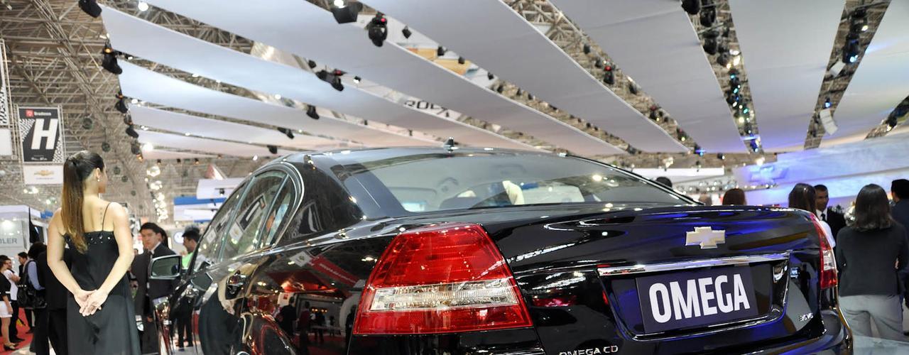 Chevrolet Omega em sua última aparição no Salão do Automóvel de São Paulo, em 2010