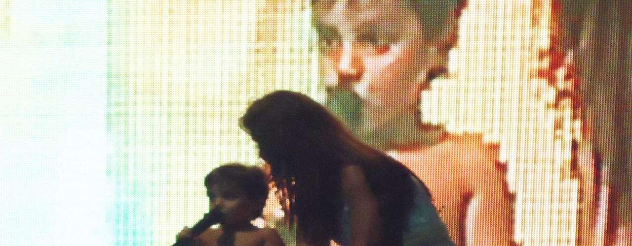 Ivete Sangalo não cansou de admirar a performance do filho