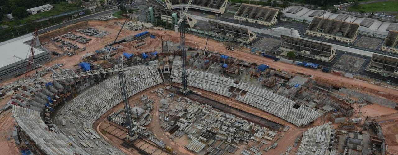8 de janeiro de 2013: As obras, contudo, terão que se apressar para que o cronograma inicial seja cumprido. De acordo com o site oficial do estádio, o prazo inicial de entrega é 30 de junho deste ano