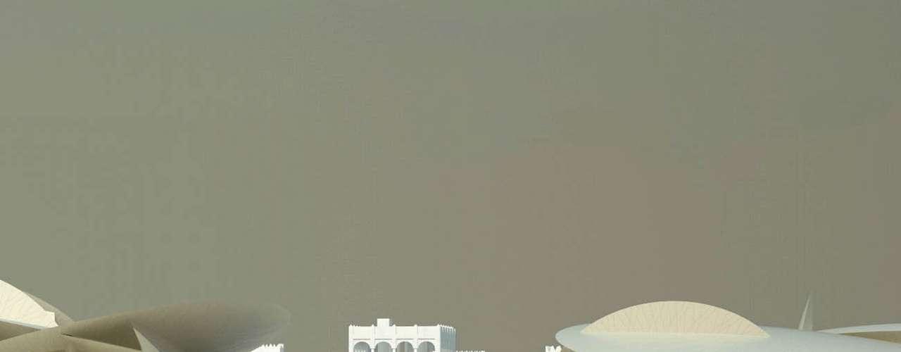 Museu Nacional do Qatar, Qatar: o Qatar tem fortes ambições de se transformar num dos principais destinos culturais do planeta, e o novo Museu Nacional do Qatar é um dos pontos altos do projeto. O museu original foi inaugurado em 1975 num antigo palácio e o famoso arquiteto francês Jean Nouvel está levando hoje a cabo uma importante renovação. O novo museu, que deverá ser inaugurado em 2014, usa uma série de prédios em forma de discos, criando uma estrutura inspirada em rosas do deserto belas pedras semelhantes a uma flor formadas por areia cristalizada