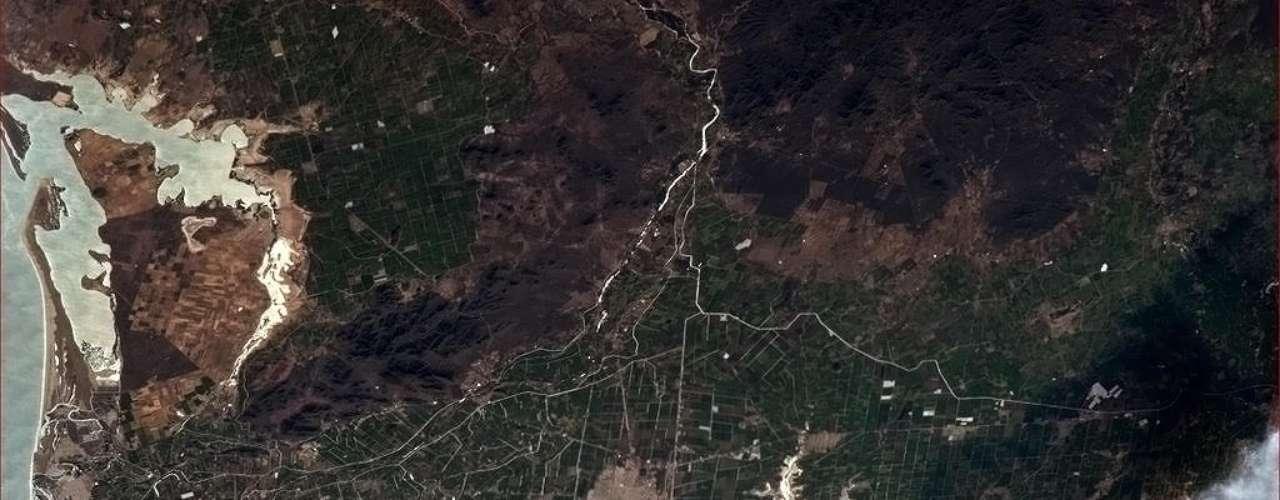 No dia 17 de janeiro, o astronauta Chris Hadfield passou pelo México