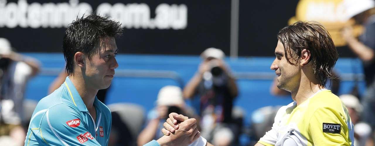 Próximo desafio de Almagro será o compatriota David Ferrer, que venceu o japonês Nicolás Almagro por 3 sets a 0: parciais de 6/2, 6/1 e 6/4
