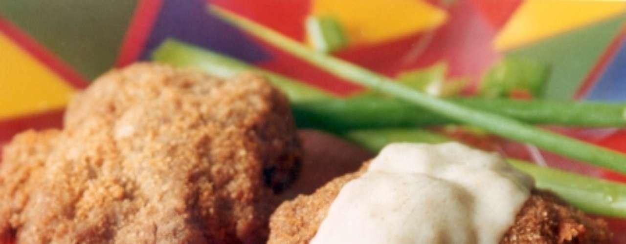 Hambúrguer à milanesa.