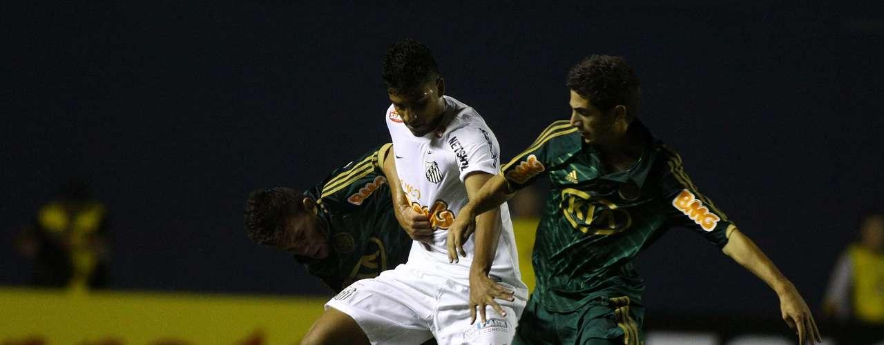 Santos avançou a marcação e passou a dominar o Palmeiras durante o resto do jogo