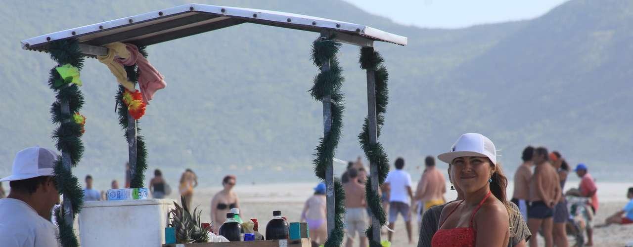 24 de janeiro - O calor mais intenso foi registrado por volta das 15h em Criciúma, cidade 190 quilômetros ao sul de Florianópolis
