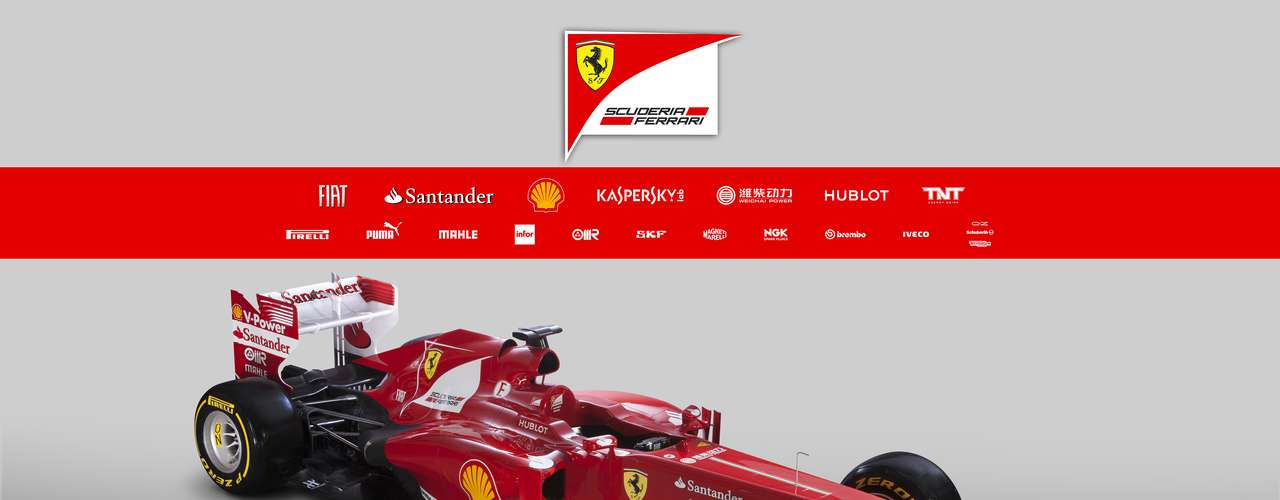 O esquema de cores doF138 é semelhante ao do F2012, com o vermelho predominante. Há uma pequena diferente no novo carro, com uma faixa branca na parte inferior dividindo a passagem do vermelho para o preto. O nome do modelosurgiu com a combinação entre 2013 e o número de cilindros do carro; o próximo campeonato será o oitavo e último dos motores V8, que serão substituídos por V6