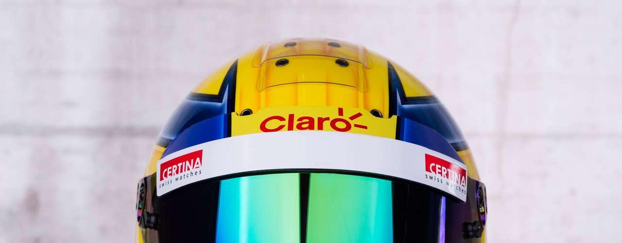 Imagem mostra o capacete que Gutiérrez utilizará em seu ano de estreia