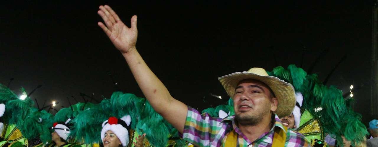 Jeca Tatu, um dos personagens de Mazzaropi, apareceu com destaque na apresentação