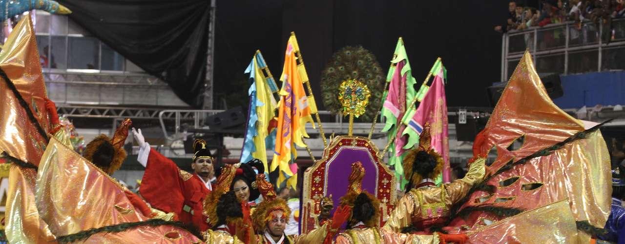 Detalhe do desfile da Unidos de Vila Maria