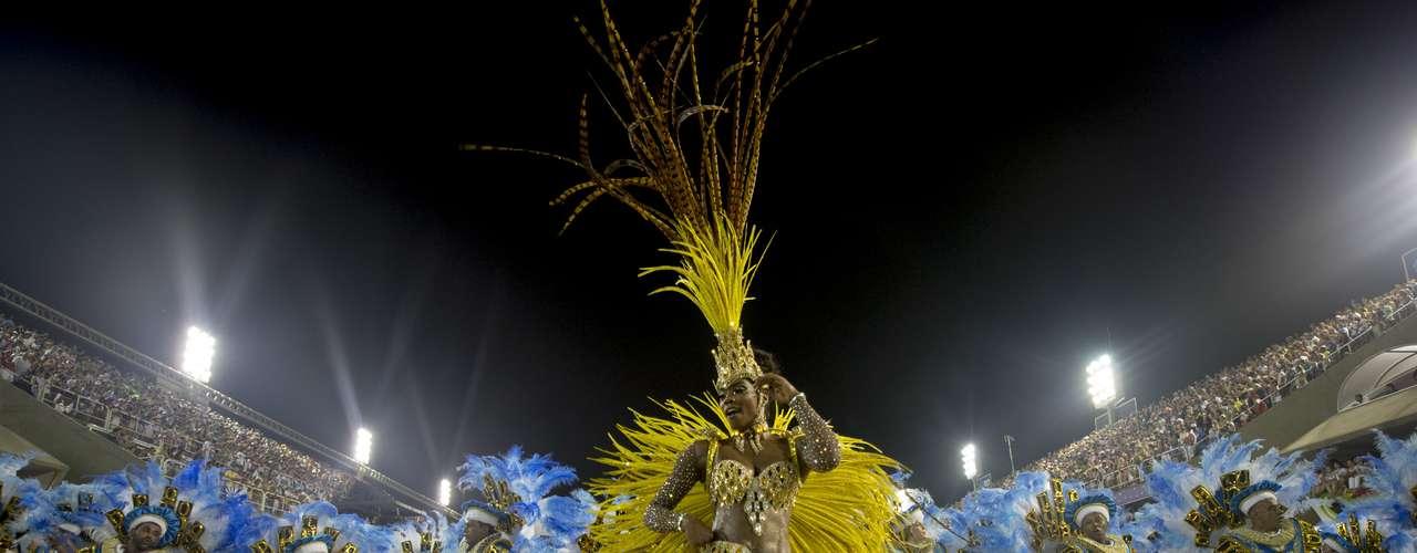 Detalhe do desfile da Unidos da Tijuca