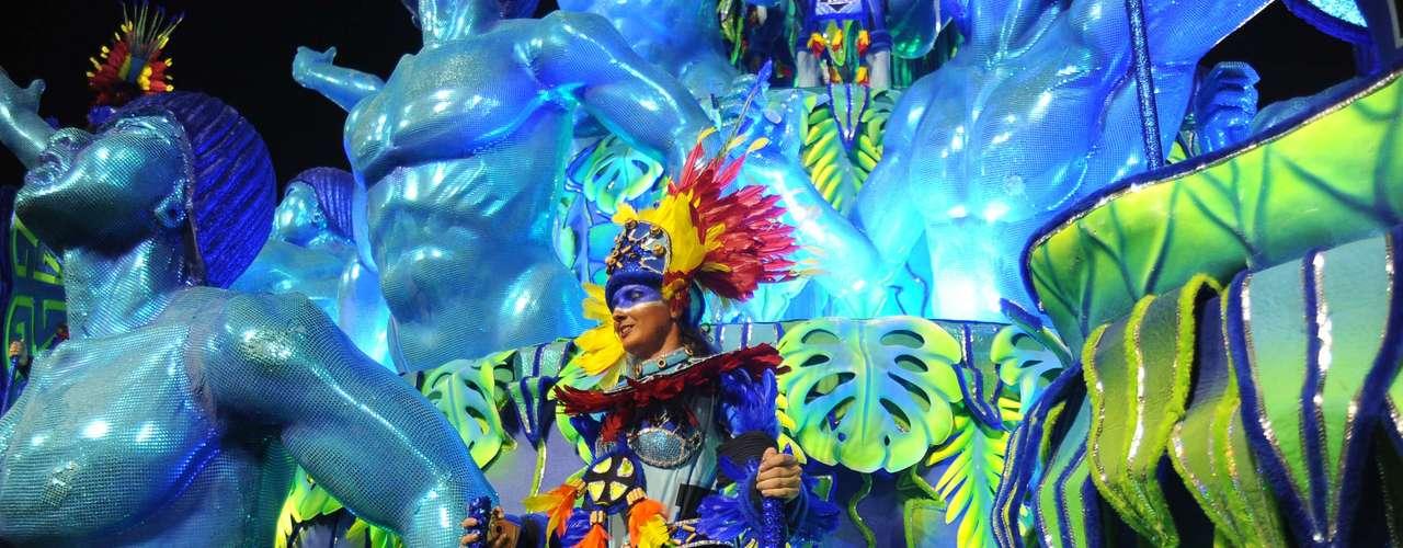 Detalhe do desfile da Portela