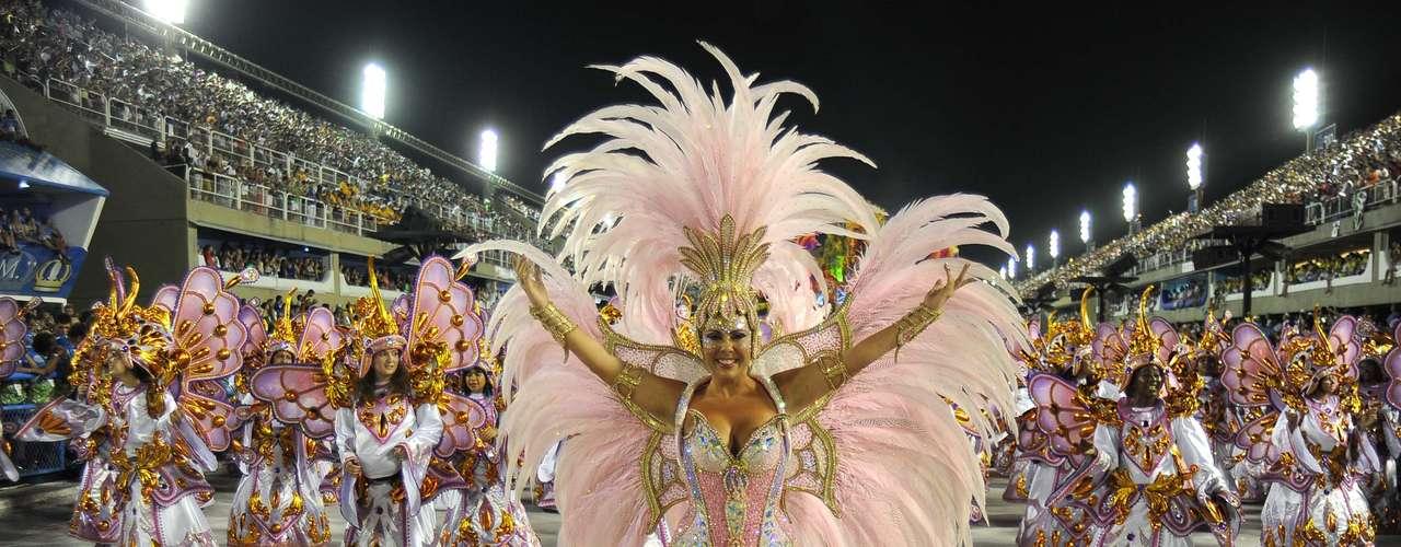 Detalhe do desfile da Tijuca