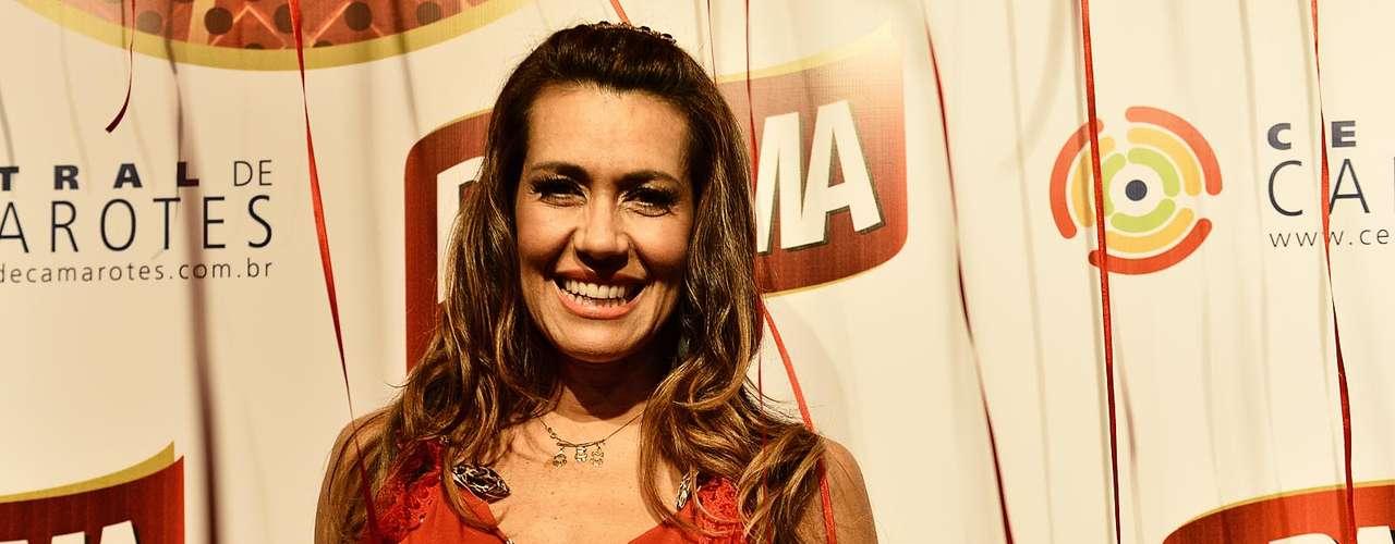 Personal trainer Solange Frazão mostrou estar em forma no Carnaval