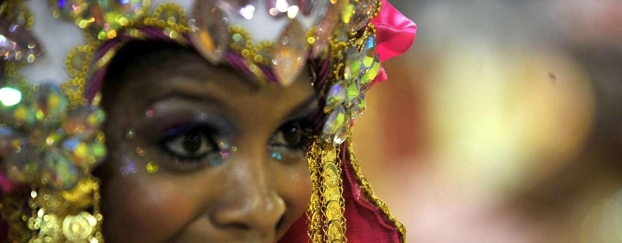 Detalhe do desfile da Beija-Flor