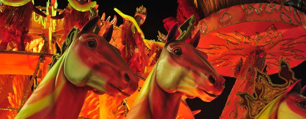 Vários elementos rurais deram o tom do Carnaval da Unidos de Vila Isabel